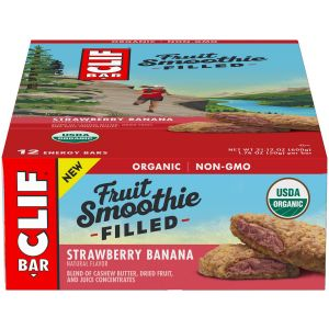 Clif Bar Fruit Smoothie Filled: Strawberry Banana Box of 12