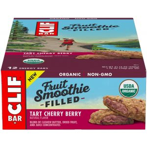 Clif Bar Fruit Smoothie Filled: Tart Cherry Berry Box of 12