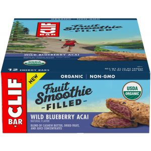Clif Bar Fruit Smoothie Filled: Wild Blueberry Acai Box of 12