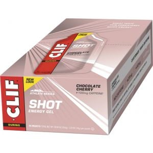 Clif Shot Gel: Chocolate Cherry Turbo with Caffeine 24-Pack