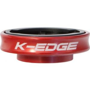 K-EDGE Gravity Cap Stem for Garmin Quarter Turn Type Computers Red