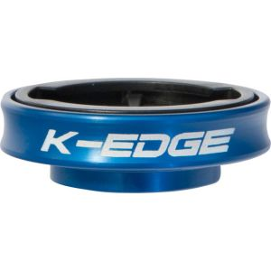 K-EDGE Gravity Cap Stem for Garmin Quarter Turn Type Computers Blue