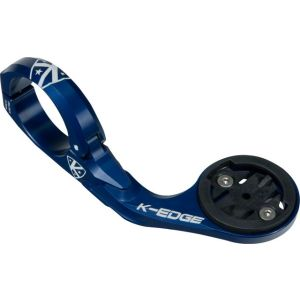 K-EDGE Pro Garmin Handlebar Mount: 31.8mm Blue