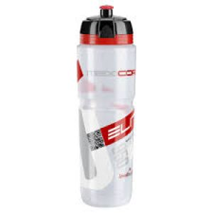 Elite Corsa 950 ml Water Bottle Clear/Red