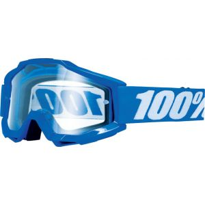 100% Accuri OTG Goggle: Reflex Blue with Clear Lens for use over prescription
