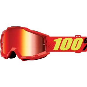 100% Accuri Goggle: Saarinen with Mirror Red Lens Spare Clear Lens Included