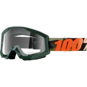 100% Strata Goggle: Huntsitan with Clear Lens