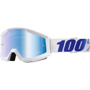 100% Strata Goggle: Equinox with Mirror Blue Lens