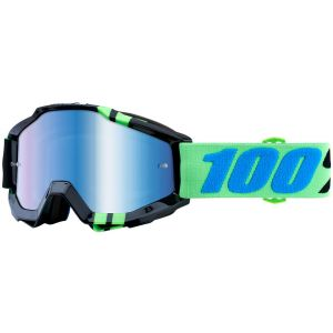 100% Accuri Goggle: Zerg with Mirror Blue Lens Spare Clear Lens Included