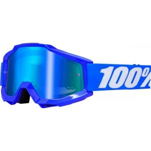 100% Accuri Goggle Reflex Blue with Mirror Blue Lens Spare Clear Lens Included