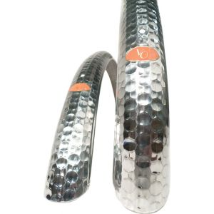 Velo Orange 700c Hammered Alloy Fender Set Polished Silver 45mm