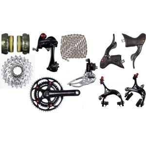 Campagnolo Centaur 10 Black/Red 3x Groupset