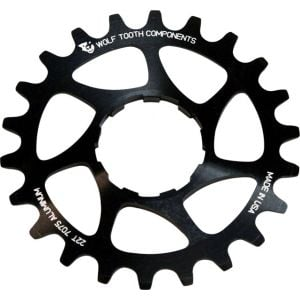 Wolf Tooth Components Single Speed Aluminum Cog: 18T Compatible with 3/32