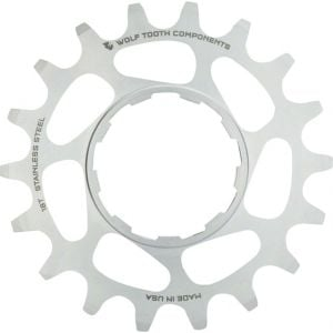 Wolf Tooth Components Single Speed Stainless Steel Cog: 16T Compatible with