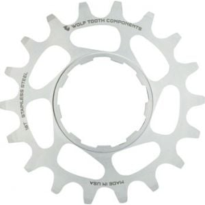 Wolf Tooth Components Single Speed Stainless Steel Cog 20T Compatible with 3/32