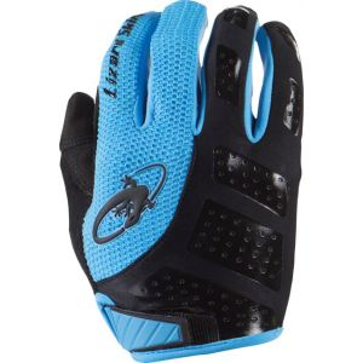 Lizard Skins Monitor SL Gloves: Jet Black/Electric Blue SM