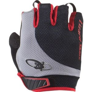 Lizard Skins Aramus Elite Gloves: Jet Black/Crimson LG