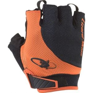 Lizard Skins Aramus Elite Gloves: Jet Black/Tangerine MD
