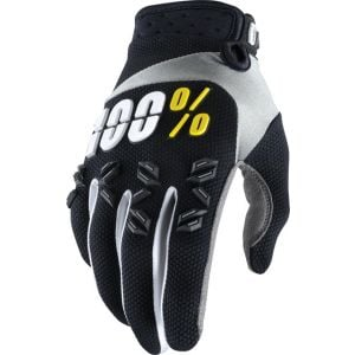 100% Airmatic Glove: Black -2XL