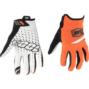 100% Ridecamp Men's Full Finger Glove: Orange LG