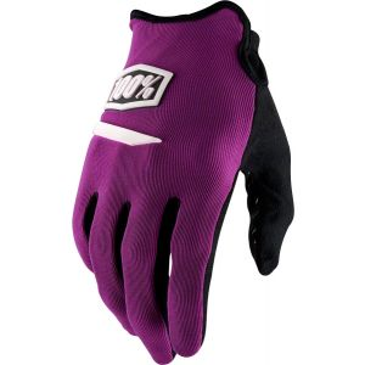100% Ridecamp Men's Full Finger Glove: Purple MD