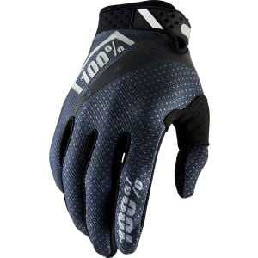 100% Ridefit Full Finger Glove: Black 2XL