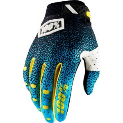 100% Ridefit Full Finger Glove: Cyan/Black 2XL