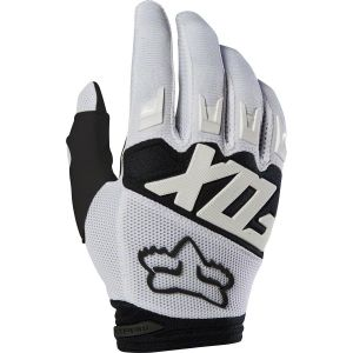 Fox Racing Dirtpaw Men's Full Finger Glove: White SM