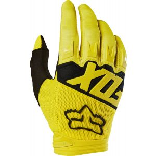 Fox Racing Dirtpaw Men's Full Finger Glove: Yellow/Black MD