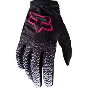 Fox Racing Dirtpaw Youth Full Finger Glove: Black/Pink LG