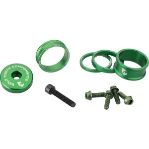 Wolf Tooth Components BlingKit: Headset Spacer Kit 3 510 15mm Green
