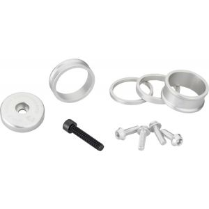 Wolf Tooth Components BlingKit: Headset Spacer Kit 3 510 15mm Silver