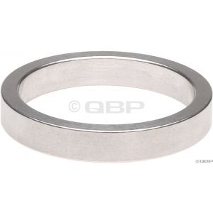 Wheels Manufacturing 5mm 1 Headset Spacer Silver Bag/10