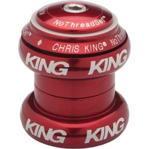 Chris King NoThreadSet Headset 1-1/8 Red Bold