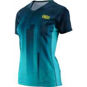 100% Airmatic Women's MTB Jersey: Prism Forest SM
