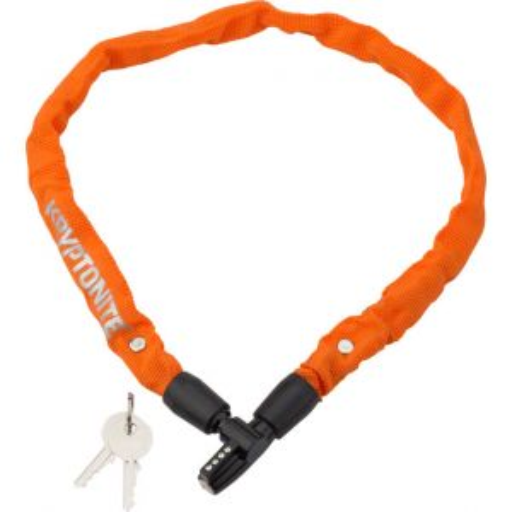 Kryptonite Keeper 465 Chain Lock with Key: 2.13' x 4mm Orange