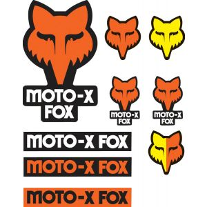 Fox Racing Track Sticker Pack: Orange NS