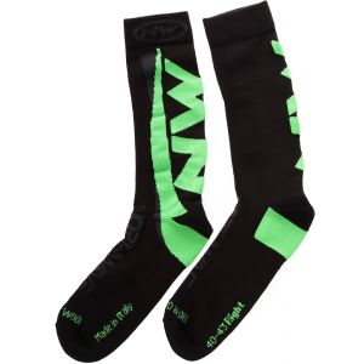 Northwave Extreme Winter High Socks Black/Green Fluorescent