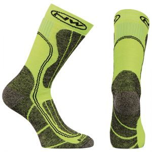 Northwave Husky Ceramic High Sock Green Fluo/Blk M