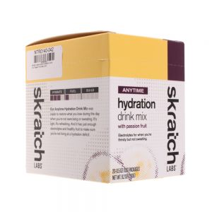 Skratch Labs Anytime Hydration Drink Mix  Passion Fruit 20pack Singles