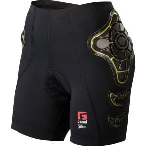 G-Form Pro-B Women's Compression Shorts with Chamois: Black/Yellow LG