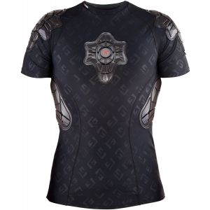 G-Form Pro-X Short Sleeve Shirt: Black/Embossed G MD