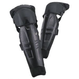 Fox Racing Launch Protective Knee and Shin Guard: Pair Black LG/XL