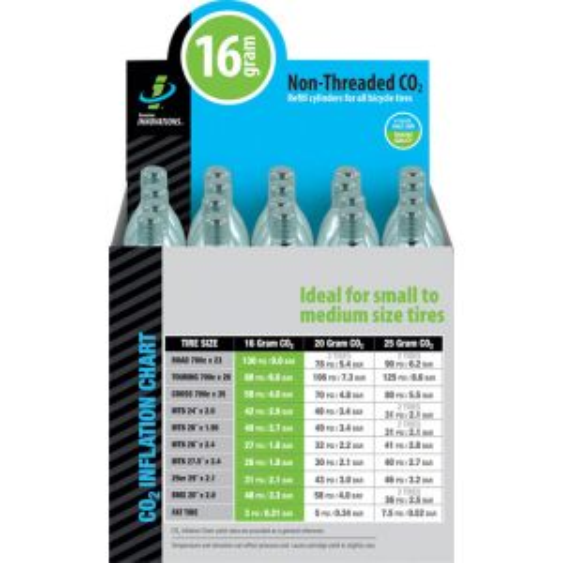 Genuine Innovations 16gram Threadless CO2 Cartridges Box of 20