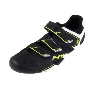 Northwave Sonic 2 Road Shoe Black/White/Yellow Fluo (Eur 41/US 8.5)