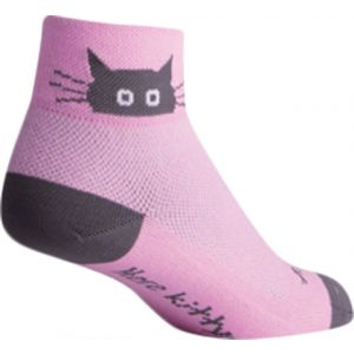 SockGuy Whiskers Sock: Pink SM/MD