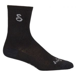 SockGuy Wool 6 Crew Sock: Black LG/XL