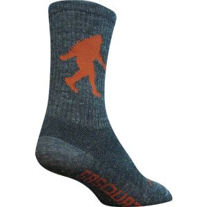 SockGuy Wool Sasquatch 6 Crew Sock: Gray SM/MD