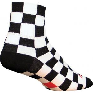 SockGuy Ridgemont Sock: Black/White Checker LG/XL