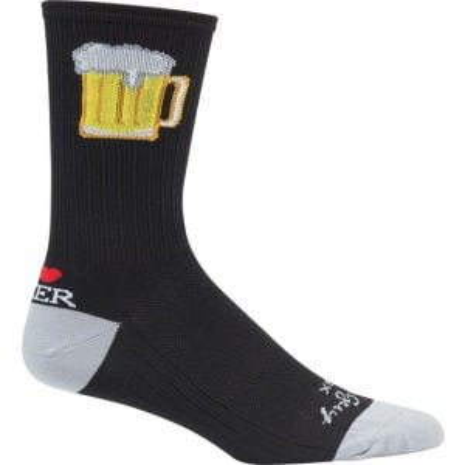 SockGuy SGX Tallboy Sock: Black LG/XL